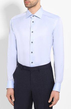 Мужская хлопковая сорочка ETON голубого цвета, арт. 1000 01175   Фото 3