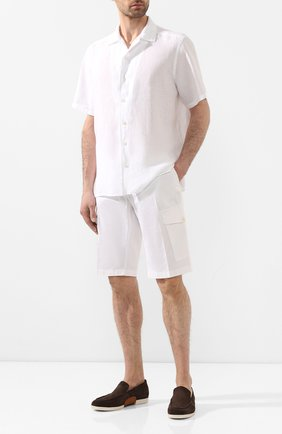 Мужская льняная рубашка ETON белого цвета, арт. 1000 01160 | Фото 2
