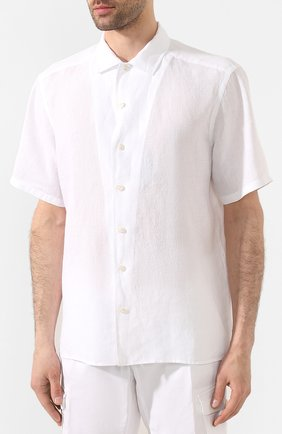 Мужская льняная рубашка ETON белого цвета, арт. 1000 01160 | Фото 3