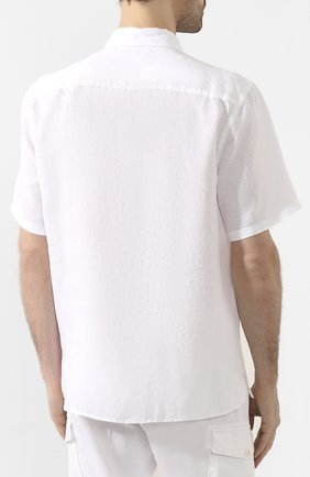 Мужская льняная рубашка ETON белого цвета, арт. 1000 01160 | Фото 4