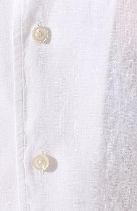 Мужская льняная рубашка ETON белого цвета, арт. 1000 01160 | Фото 5
