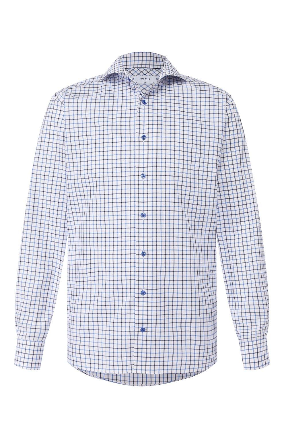 Мужская хлопковая сорочка ETON синего цвета, арт. 1000 00905 | Фото 1