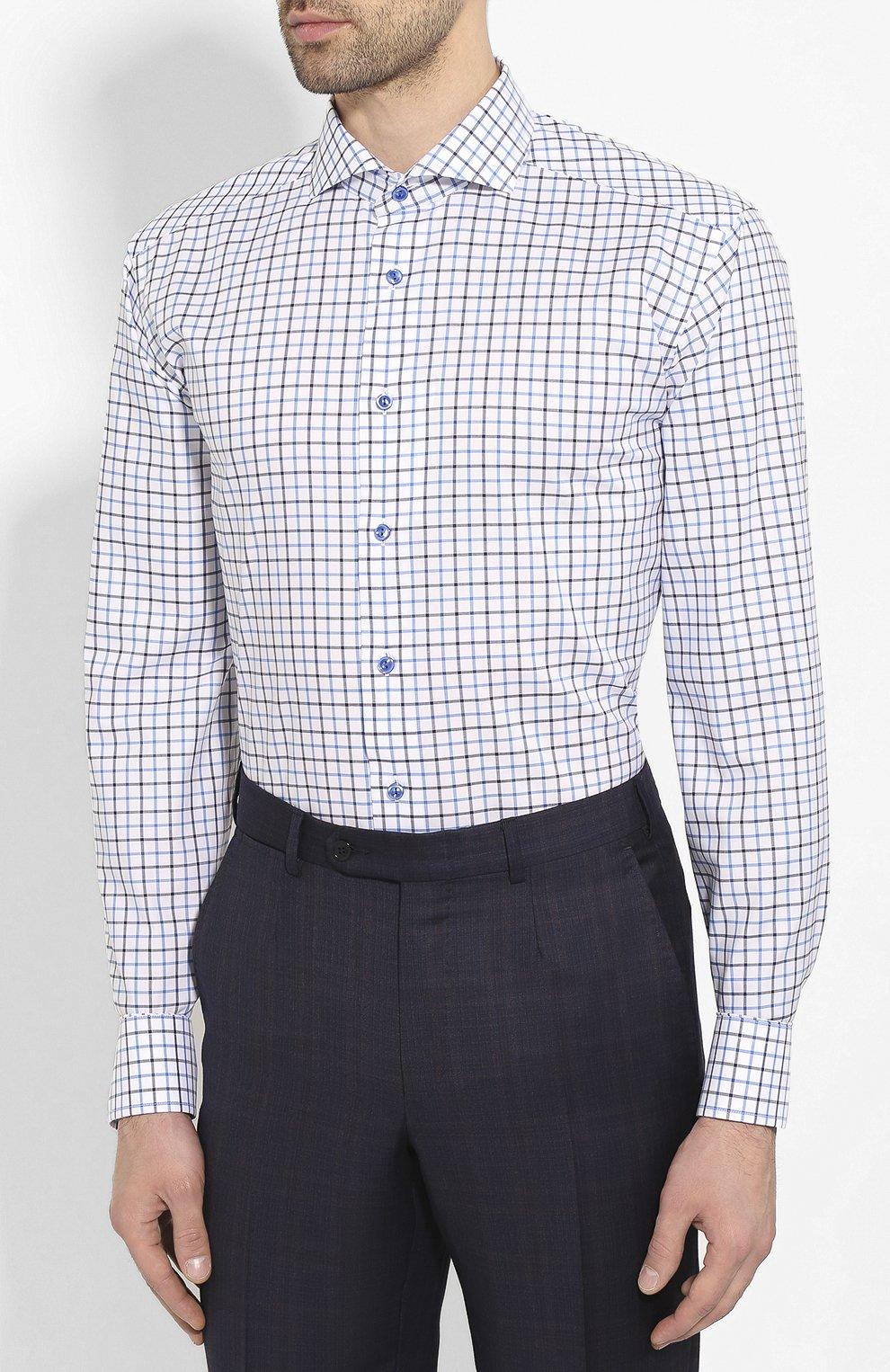Мужская хлопковая сорочка ETON синего цвета, арт. 1000 00905 | Фото 3