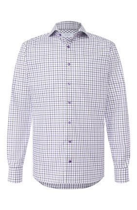 Мужская хлопковая сорочка ETON сиреневого цвета, арт. 1000 00905 | Фото 1