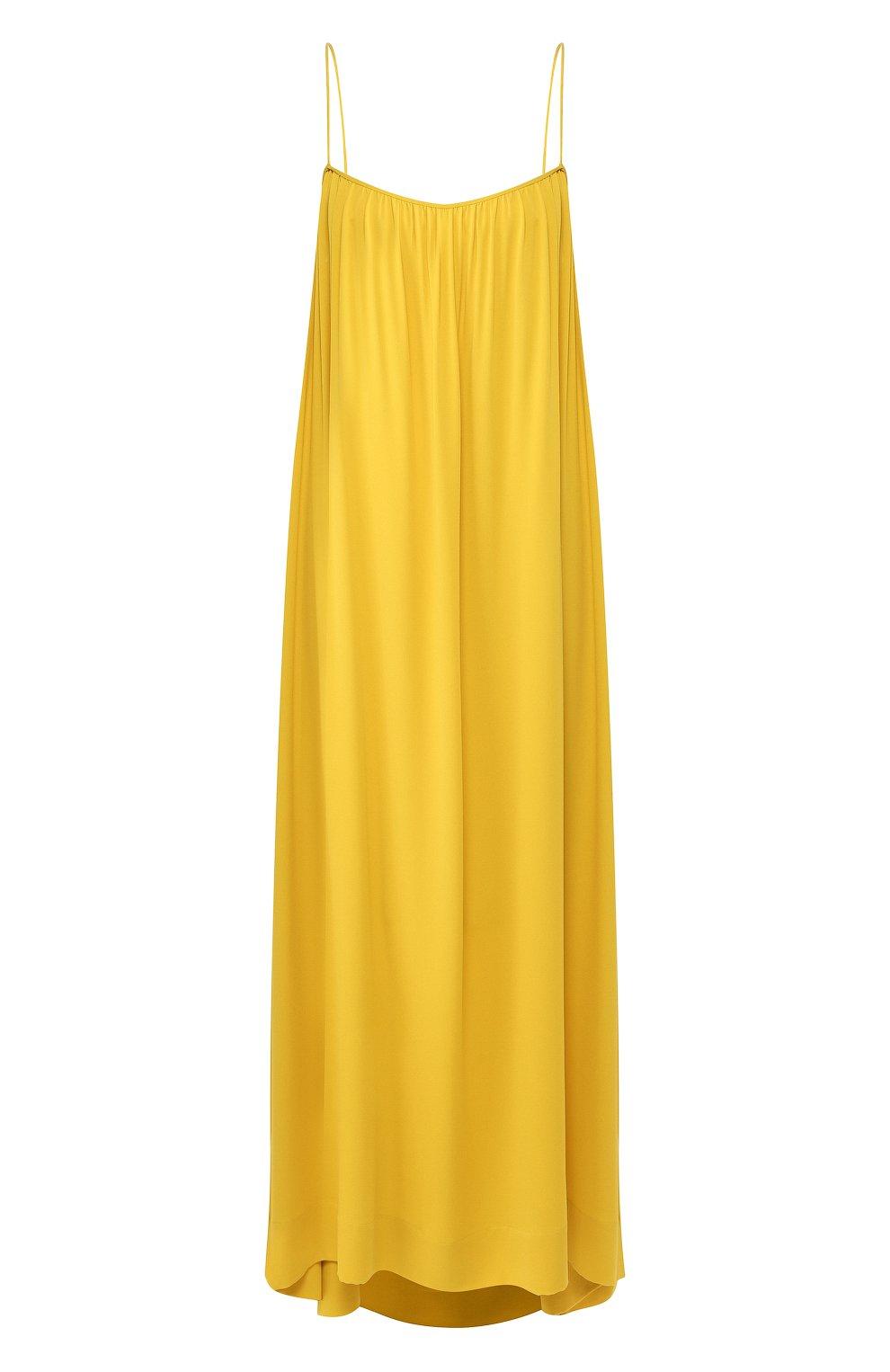 Женское шелковое платье THE ROW желтого цвета, арт. 4927W1623 | Фото 1