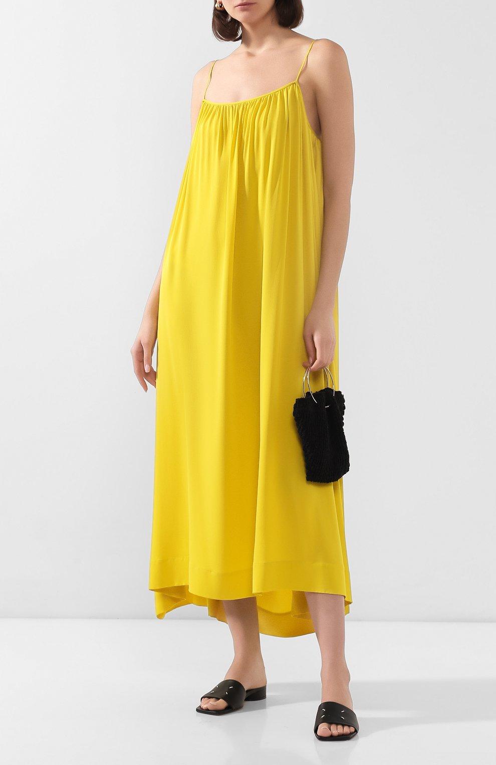 Женское шелковое платье THE ROW желтого цвета, арт. 4927W1623 | Фото 2