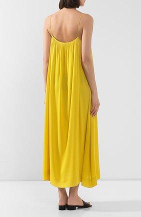 Женское шелковое платье THE ROW желтого цвета, арт. 4927W1623 | Фото 4
