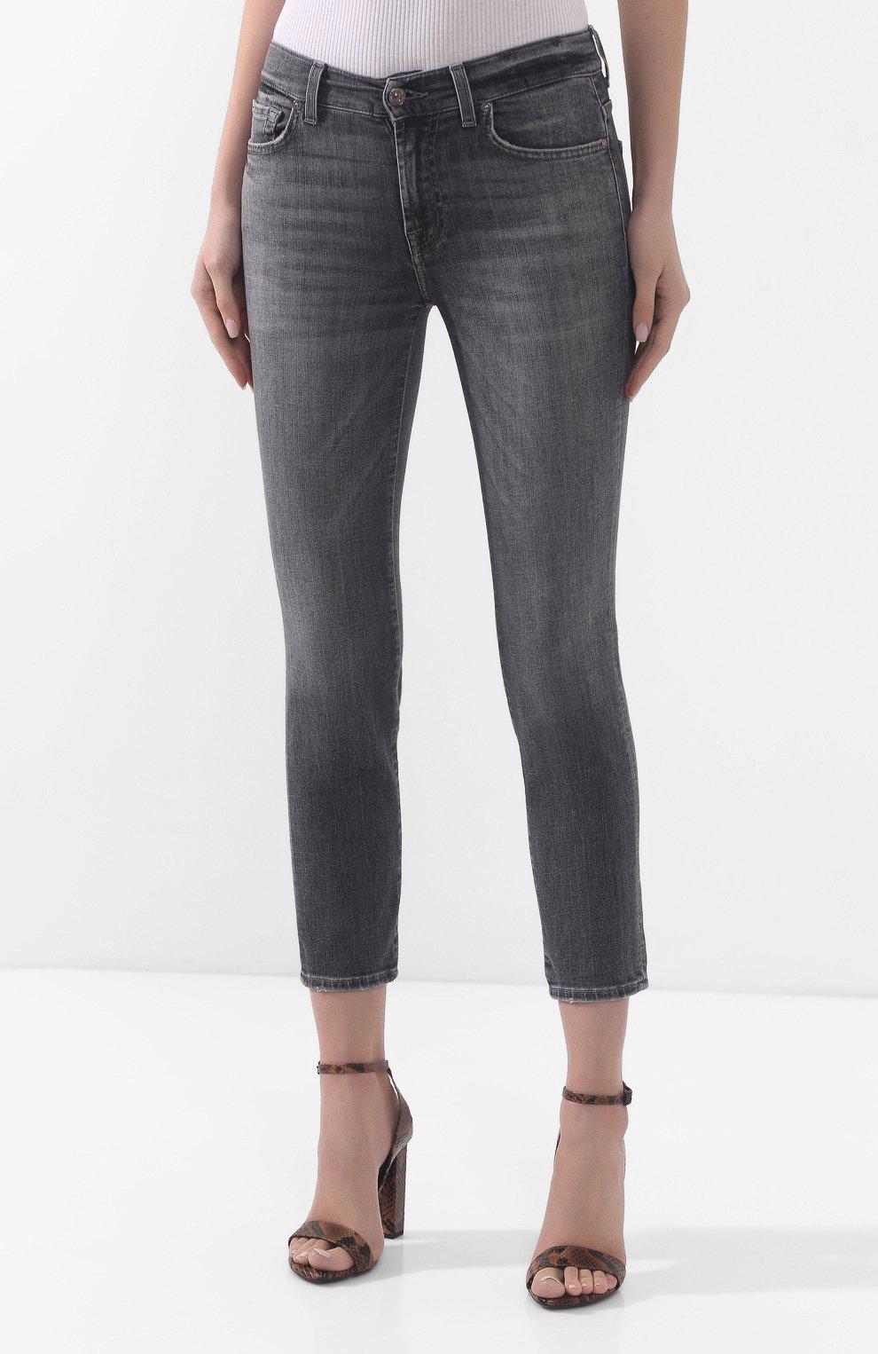 Женские джинсы 7 FOR ALL MANKIND серого цвета, арт. JSVYU790SG | Фото 3