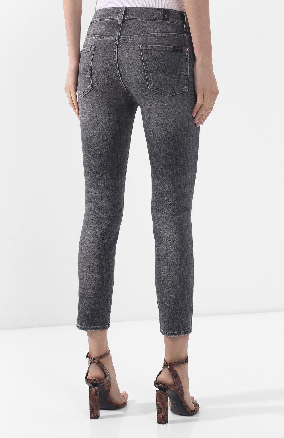 Женские джинсы 7 FOR ALL MANKIND серого цвета, арт. JSVYU790SG | Фото 4