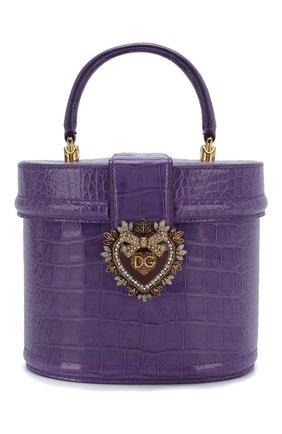 Женская сумка devotion из кожи аллигатора DOLCE & GABBANA фиолетового цвета, арт. BB6800/B2DE5/AMIS | Фото 1
