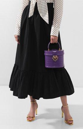 Женская сумка devotion из кожи аллигатора DOLCE & GABBANA фиолетового цвета, арт. BB6800/B2DE5/AMIS | Фото 2