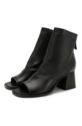 Женские кожаные ботильоны VIC MATIE черного цвета, арт. 1X8552D.X24U140101 | Фото 1