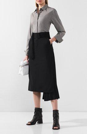 Женские кожаные ботильоны VIC MATIE черного цвета, арт. 1X8552D.X24U140101 | Фото 2