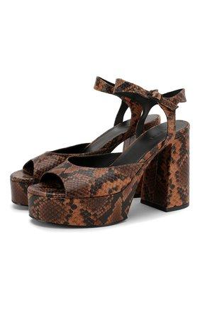 Женские кожаные босоножки VIC MATIE коричневого цвета, арт. 1X8576D.X30U030321 | Фото 1