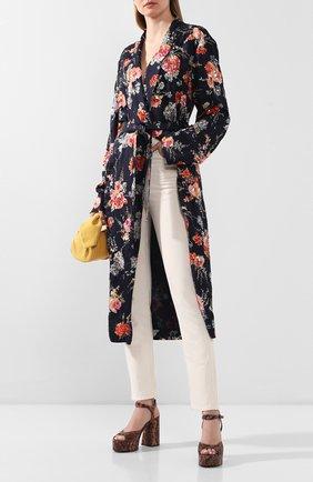 Женские кожаные босоножки VIC MATIE коричневого цвета, арт. 1X8576D.X30U030321 | Фото 2