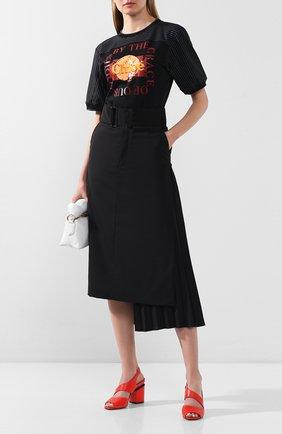 Женские кожаные босоножки VIC MATIE кораллового цвета, арт. 1X8602D.X34C5XBI40 | Фото 2
