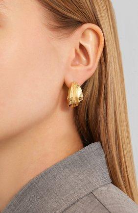 Женские серьги BOTTEGA VENETA золотого цвета, арт. 617806/VAHU0 | Фото 2