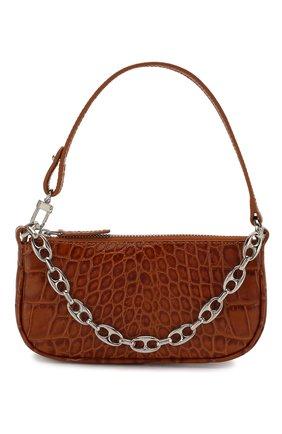 Женская сумка rachel mini BY FAR коричневого цвета, арт. 20CRMIRATNDSMA | Фото 1