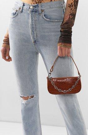 Женская сумка rachel mini BY FAR коричневого цвета, арт. 20CRMIRATNDSMA   Фото 2