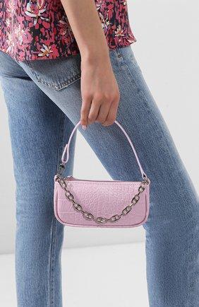 Женская сумка rachel mini BY FAR светло-розового цвета, арт. 20CRMIRAPIDSMA   Фото 2