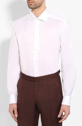Мужская хлопковая сорочка ETON белого цвета, арт. 1000 01567 | Фото 3