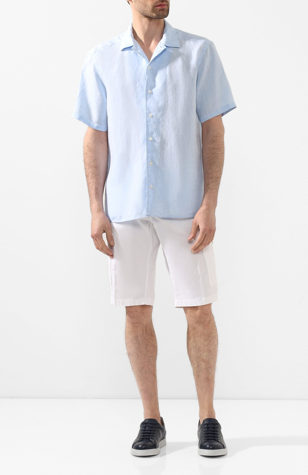 Мужская льняная рубашка ETON голубого цвета, арт. 1000 01160 | Фото 2