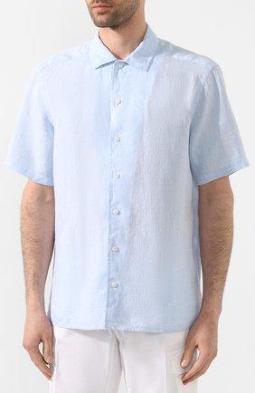 Мужская льняная рубашка ETON голубого цвета, арт. 1000 01160 | Фото 3