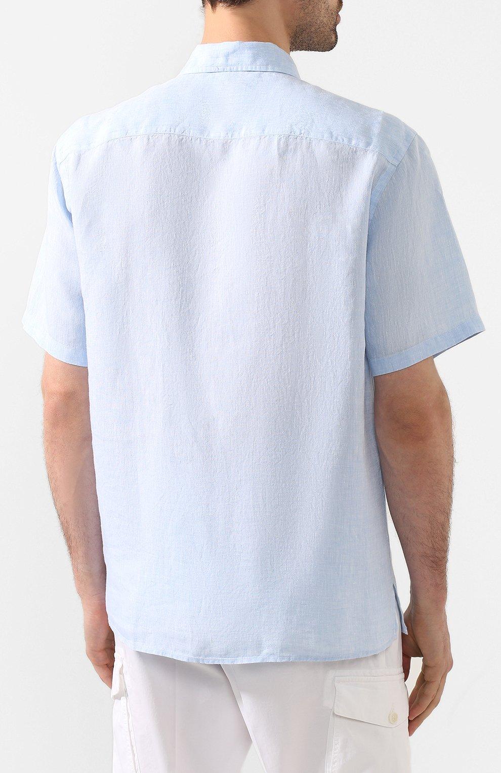 Мужская льняная рубашка ETON голубого цвета, арт. 1000 01160 | Фото 4