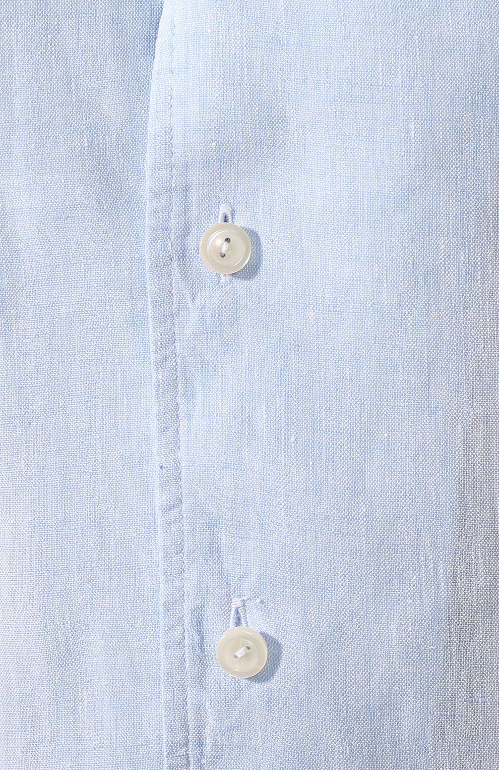 Мужская льняная рубашка ETON голубого цвета, арт. 1000 01160 | Фото 5