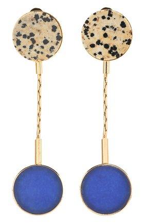 Женские серьги CRYSTALLINE JEWELLERY светло-синего цвета, арт. 364B | Фото 1