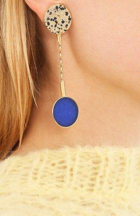 Женские серьги CRYSTALLINE JEWELLERY светло-синего цвета, арт. 364B | Фото 2