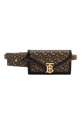 Женская поясная сумка envelope BURBERRY коричневого цвета, арт. 8027478   Фото 1