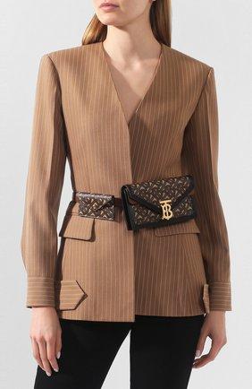 Женская поясная сумка envelope BURBERRY коричневого цвета, арт. 8027478   Фото 2