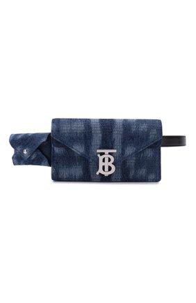 Женская поясная сумка envelope BURBERRY синего цвета, арт. 8027479   Фото 1