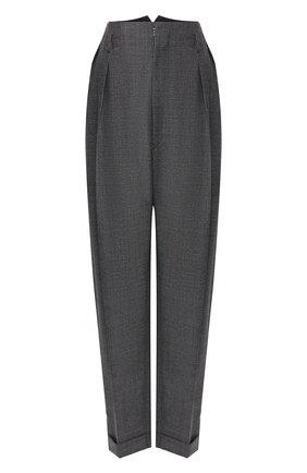 Женские шерстяные брюки MAISON MARGIELA серого цвета, арт. S29KA0338/S52955 | Фото 1