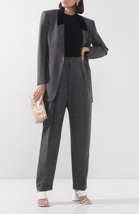 Женские шерстяные брюки MAISON MARGIELA серого цвета, арт. S29KA0338/S52955 | Фото 2