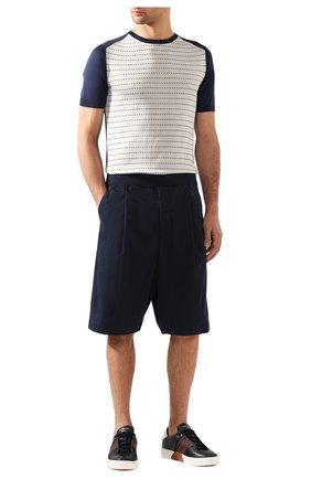 Мужские хлопковые шорты GIORGIO ARMANI темно-синего цвета, арт. 9SGPB003/T01MP | Фото 2
