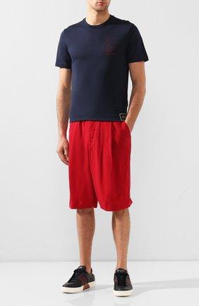Мужские шорты GIORGIO ARMANI красного цвета, арт. 9SGPB003/T00AB | Фото 2