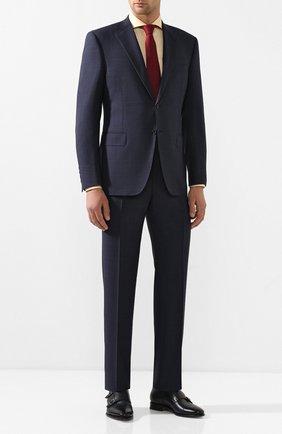 Мужские кожаные монки SANTONI синего цвета, арт. MCBN17125PC2NUTAU45 | Фото 2