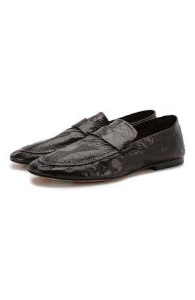 Мужские кожаные лоферы BOTTEGA VENETA темно-коричневого цвета, арт. 620301/VBSH0 | Фото 1