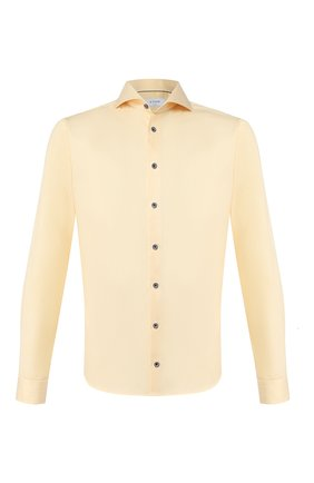 Мужская хлопковая сорочка ETON желтого цвета, арт. 1000 01410 | Фото 1