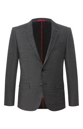 Мужской пиджак HUGO темно-серого цвета, арт. 50435009 | Фото 1