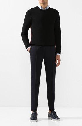 Мужской шерстяные брюки BOSS синего цвета, арт. 50432928 | Фото 2