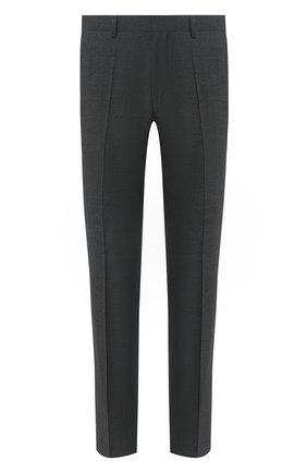 Мужской шерстяные брюки BOSS серого цвета, арт. 50432140 | Фото 1