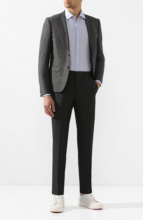 Мужской шерстяные брюки BOSS серого цвета, арт. 50432140 | Фото 2