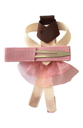 Детская заколка-зажим MILLEDEUX розового цвета, арт. 158-BC-01 | Фото 2