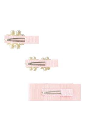 Детская набор из трех заколок MILLEDEUX светло-розового цвета, арт. PGC07 | Фото 2