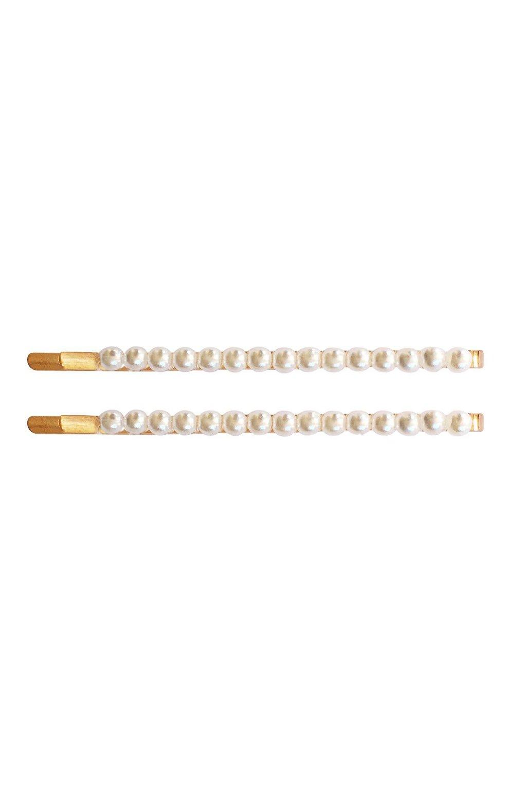 Детская набор из двух невидимок MILLEDEUX золотого цвета, арт. 01-PC-1A | Фото 1