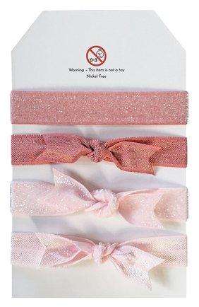 Детская набор из четырех резинок MILLEDEUX розового цвета, арт. HTC-06 | Фото 2