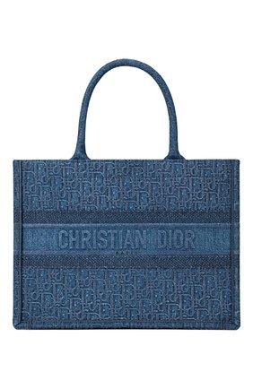 Женская сумка-тоут dior book DIOR синего цвета, арт. M1296ZWALM928 | Фото 1